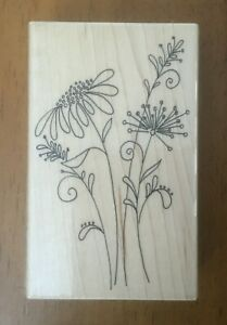 Penny Black Day Dreams Wood Rubber Stamp 3947K Flower Nature