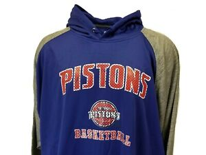 Detroit Pistons Mens Blue NBA Majestic Pullover Hoodie Big & Tall