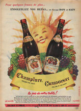 Publicité Advertising  vin CHAMPLURE vin CRAMOISAY