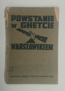HOLOCAUST - THE WARSAW GHETTO UPRISING - Bernard MARK - 1944 - RARE!