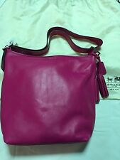 Coach Legacy Duffle Large Leather Bag In Fuchsia BNWT