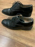Montecatini Mens Formal Evening Wear Oxford Patent Toecap Shoes Black Size UK 6