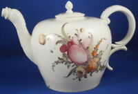 Antique 18thC Nymphenburg Porcelain Floral Teapot Tea Pot Porzellan Kanne German
