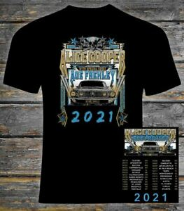 Alice Cooper and Ace Frehley 'Detroit Muscle' 2021 Concert T Shirt