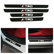 X4 TRD Silver Rubber Car Door Scuff Sill Cover Panel Step Protector