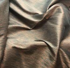 "Peach & Emerald Green - Silk Dupioni Fabric 54"" -by the yard-"