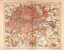 Antique map, London .