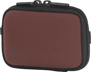 NEW Lowepro Sausalito 20 RED/BLACK Compact Digital Camera Pouch fitted soft bag