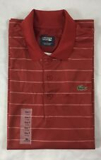 Lacoste Men's Polo Shirt Sport Stripes Tokyo Red Size XL