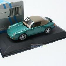 MINICHAMPS PORSCHE 911 (993) CABRIOLET SOFTTOP GREEN METALLIC 430063040