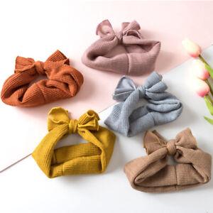Baby Rabbit Headband Knitting Elastic Bowknot Hair Band Girls Bow-knot Newborn
