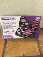 39 piece Home Tool Kit & Case - Susan G. Komen branded, Pink & Black with Case