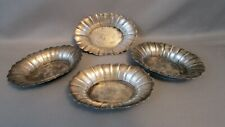 RARE 1800's WALLACE Sterling Silver Finger salts nut 4 Dish set #202 (103.6gm)