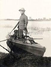 Antique Duck Hunting 1904 Repro 8X10 Photo Woman Cocker Spaniel Dead Duck
