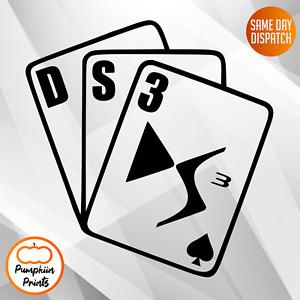 DS3 Window Decal Sticker Graphic CITROEN *Colour Choice*