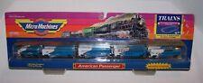 VINTAGE 1989 GALOOB MIRCO MACHINES TRAINS AMERICAN PASSENGER SET W/ TRACKS NEW