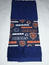 Chicago Bears Hand Towel Handmade  GREAT GIFT!!! GREAT FOR GOLF BAGS AND BARS