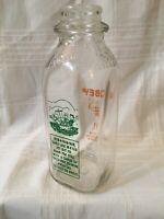 Vintage Pint Milk Bottle Meadow Brook Farms Pottstown Pennsylvania Nursery Rhyme
