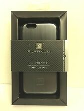 Platinum - Brushed Metal Case for Apple iPhone 6/6s - Gunmetal