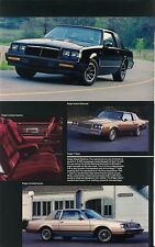 1985 Buick Grand National Regal Riviera Somerset LeSabre Skyhawk Sales Brochure