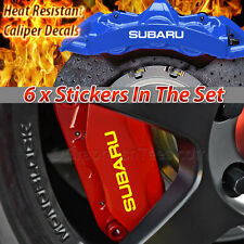Subaru Brake Caliper Sticker Decal, Car Vinly Graphic Decal Sticker - 16 Colours
