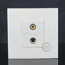Wall Face Plate Yellow Audio AV Video Socket 6.5mm Audio Microphone Faceplate