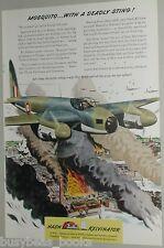 1943 NASH KELVINATOR advertisement, WWII, Mosquito bombing run bomber