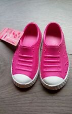 M&S infant Girl pink slip on  Pram Beach summer Shoes size 6 mock laces  BNWT∆