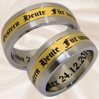 Eheringe Hochzeitsringe Partnerringe Verlobungsringe Trauringe mit Gravur