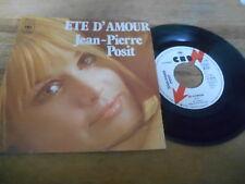 "7"" Pop Jean-Pierre posit-ETE d' Amour/Saint Blas (2 Song) Promo CBS Lightning Info"