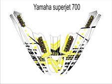 YAMAHA SUPER JET 700 jet ski wrap graphics pwc stand up jetski decal kit white