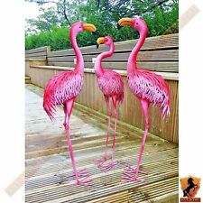 Metal Flamingo Home and Garden Ornament Crafted Indoor Outdoor Statue Sculpture