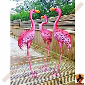 Metal Flamingo Home and Garden Ornament Crafted Indoor Outdoor Statue Sculpture