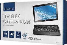 Insignia Flex NS-P11W7100 11.6'' 32GB Windows with Keyboard Black Original Box