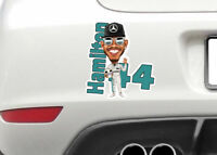 Lewis Hamilton hi 5 Formula 2 motor car racing decal / sticker window or bumper