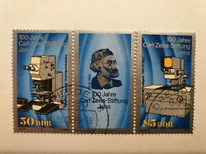 DDR Eastern Germany 100 years of the Carl Zeiss Foundation1989 CTO- Nice Example