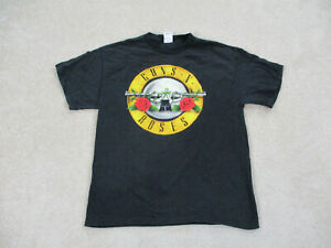 Guns N Roses Shirt Adult Large Black Yellow GNR Axl Rose Music Rock Mens A22