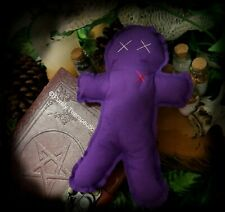 PURPLE POPPET VOODOO DOLL Wicca Witchcraft Hoodoo Ritual Spell Vodou Pagan Magic
