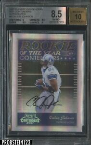 2007 Playoff Contenders ROY Calvin Johnson RC Rookie 17/50 BGS 8.5 w/ 10 AUTO