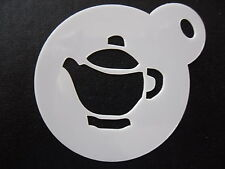 Laser cut small teapot design,cookie,craft & face painting stencil