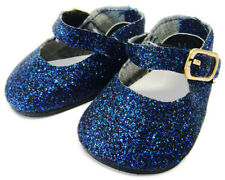 Doll Clothes fits Bitty Baby Navy Blue Glitter Mary Jane Shoes