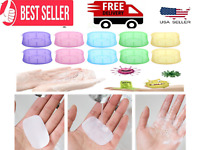 140 Sheets Paper Soap Portable Travel Hand Washng Soluble 7 Mini Boxes-From USA.