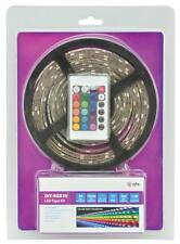 QTX 153.727 DIY LED Light Tape Reel Remote Control 5m IP65 Rated Multi Coloured