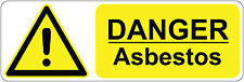 DANGER - ASBESTOS health and safety signs/stickers, warning, first aid,