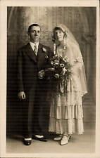 Haworth photo. Wedding Couple by F. Shuttleworth, Haworth. Brook & Taylor.