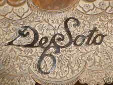 DeSoto Radiator Grille SCRIPT 1920 - 1930s Brass Name Emblem