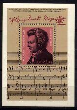 7790 GERMANY EAST DDR 1981 Mozart BLOCK  **MNH