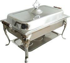 8QT Rectangular Chafer Chafing Dish Catering Banquet Buffet Food Tray Warmer
