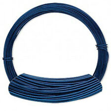 50 Feet Sapphire Blue Aluminum Wire Color Coated 20 Gauge