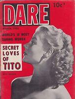 Vintage cheesecake -  pinup digest magazine #171 - MARCH 1953  DARE